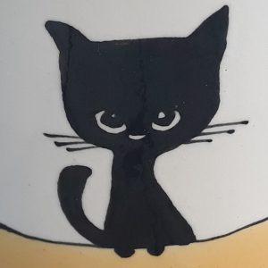 Többfunkciós kerámia bögre fekete macska motívummal – 2,3dl