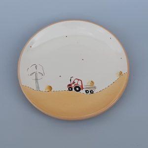 Kerámia tányér traktoros dekorral