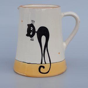 Többfunkciós kerámia kiöntő fekete macska motívummal #4