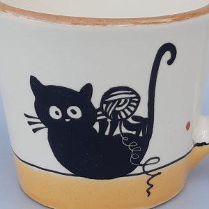 Kerámia bögre fekete macska motívummal #9