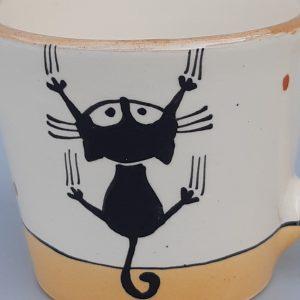 Kerámia bögre fekete macska motívummal #3
