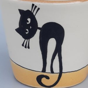 Kerámia bögre fekete macska motívummal #4