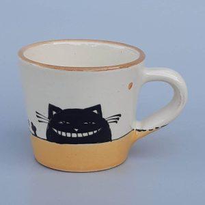 Kerámia bögre fekete macska motívummal #1