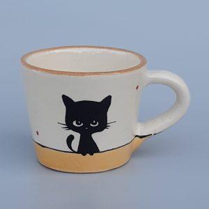 Többfunkciós kerámia bögre fekete macska motívummal