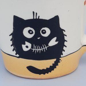 Kerámia bögre fekete macska motívummal #10
