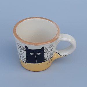 Kerámia bögre fekete macska motívummal #15 – 1dl