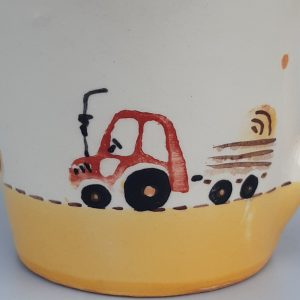 Kerámia bögre traktoros dekorral – 4dl