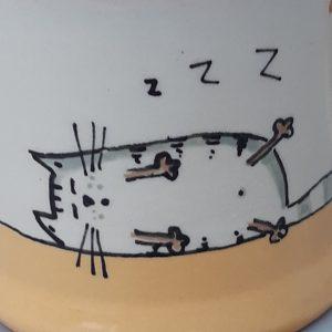Kerámia bögre színes macska dekorral #6