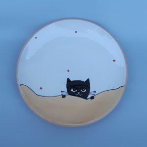 Fekete macskás tányér #8