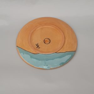 Kerámia tányér Téli állatos dekorral #5