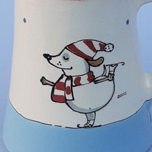 Többfunkciós kerámia kiöntő téli állatos mintával 7dl #6