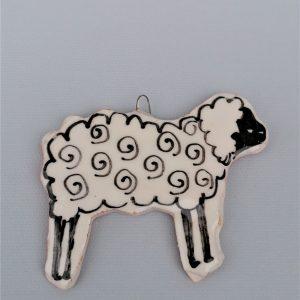 Bárány karácsonyfadísz akasztóval #1