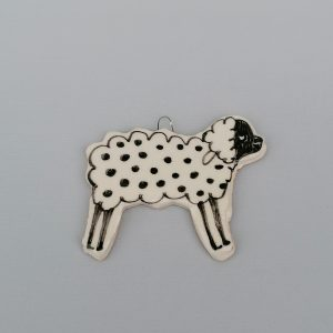 Bárány karácsonyfadísz akasztóval #2