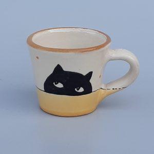 Kerámia bögre fekete macska motívummal #18 – 1dl