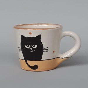 Kerámia bögre fekete macska motívummal #17 – 1dl