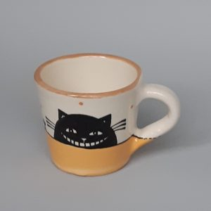 Kerámia bögre fekete macska motívummal #01 – 1dl