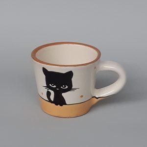 Kerámia bögre fekete macska motívummal #02 – 1dl