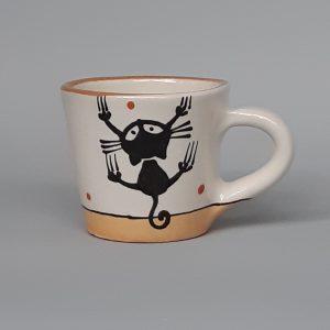 Kerámia bögre fekete macska motívummal #03 – 1dl