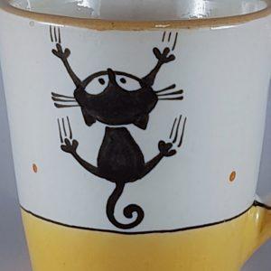 Kerámia bögre fekete macska motívummal #03 – 4dl