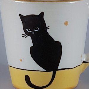 Kerámia bögre fekete macska motívummal #06 – 4dl