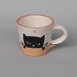 Kerámia bögre fekete macska motívummal #08 – 1dl