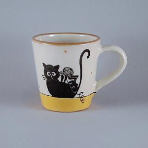 Kerámia bögre fekete macska motívummal #09 – 4dl