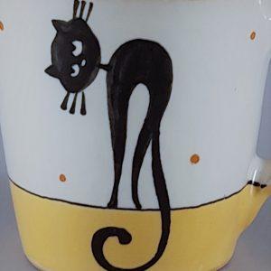 Kerámia bögre fekete macska motívummal #04 – 4dl