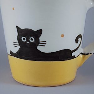 Kerámia bögre fekete macska motívummal #12 – 4dl