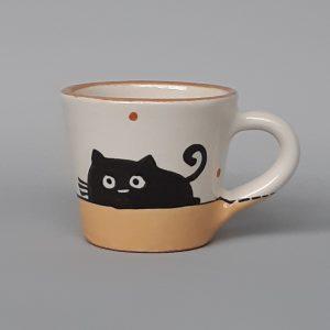 Kerámia bögre fekete macska motívummal #13 – 1dl
