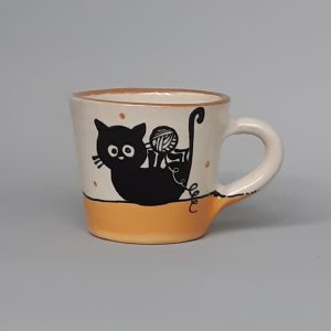 Kerámia bögre fekete macska motívummal #9 – 1,7 dl