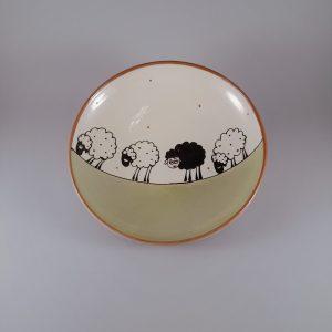Többfunkciós kerámia tál bárányos dekorral