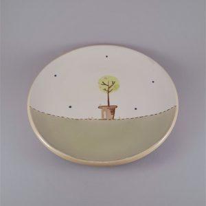 Én kis kertem kerámia tányér rózsafa dekorral