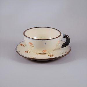 Rózsás mokkás csésze alátét tányérral – 1 dl