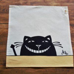 Textil szalvéta vigyorgó macska dekorral #01