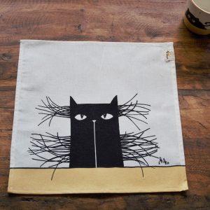 Textil szalvéta bajszos macska dekorral #15