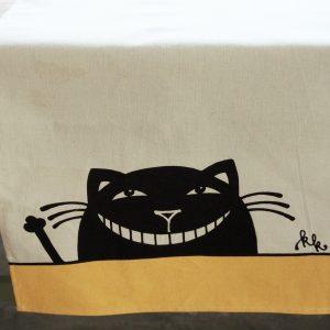 Asztali futó vigyorgó macska dekorral #01