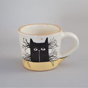 Kerámia bögre fekete macska motívummal #15 – 1,7 dl