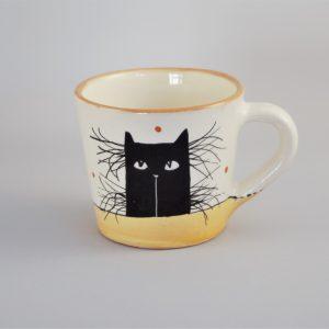 Kerámia bögre fekete macska motívummal #15 – 2,3dl